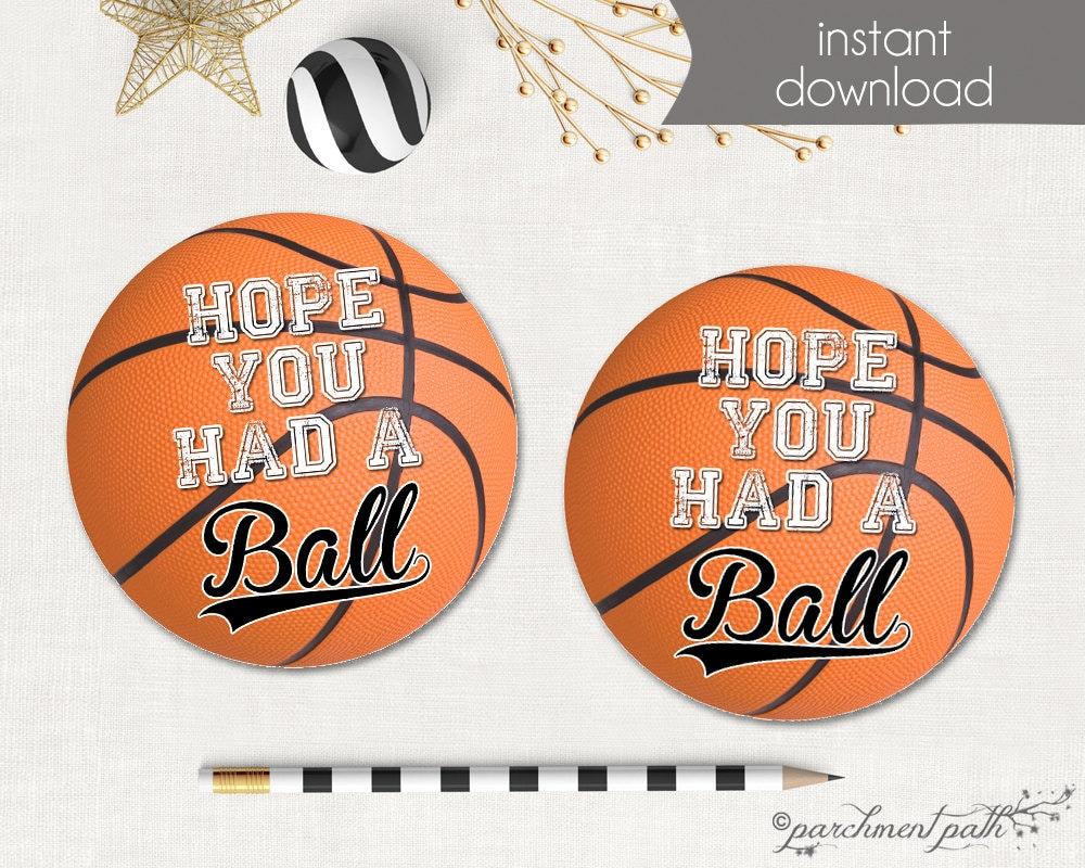 basketball favor tags basketball stickers printable