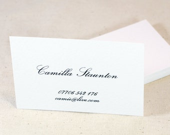 Script Business Card, Calligraphy Business Card, Modern Business Card, Classic Business Card, Unique Business Card, Custom Business Card