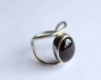 Sterling Silver Ring Minimalist and Modern Size7 hand Crafted. One of the Kind