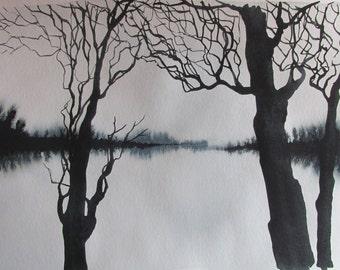 Still Pond: original watecolor