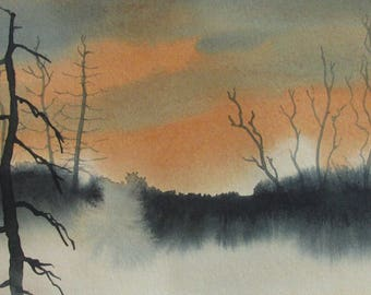 Late Afternoon - original watercolor