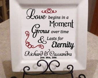 SVG - Love begins in a moment,Grows over time, lasts for Eternity- Digital file- INSTANT DOWNLOAD- svg, Silhouette studio, png & pdf formats