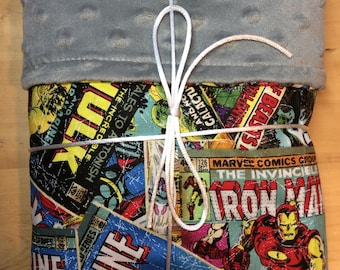 Marvel comics baby blanket