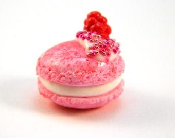 Raspberry Macaron Charm , Macaron Planner Charm , Berry Macaron Charm , Pink Macaron Charm , Macaron Charm , Planner Charm , Pink Macaron