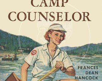 Susan Brown Camp Counselor - 10x16 Giclée Canvas Print of Vintage Paperback