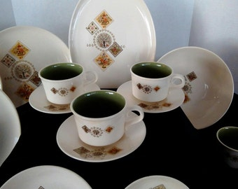 Vintage Taylor, Smith Taylor China, Ever Yours - Brocatelle Pattern, Dish Set, China