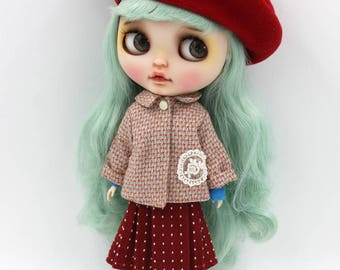 Girlish - Vintage Coat Set for Blythe doll - dress / outfit