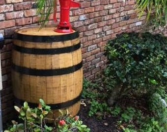 Rain Barrel, finished whiskey barrel rain barrel