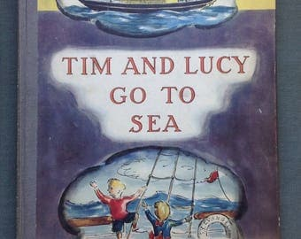 Tim and Lucy Go to Sea by Edward Ardizzone-Oxford University Press [1938]-Apparent First Edition-Magnificent early Ardizzone children's book