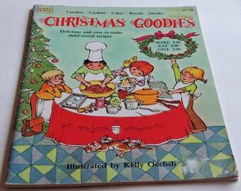 Vintage Children's Cook Book, Christmas Goodies,Candies,Cookies,Cakes,Breads,Drinks,Christmas Gift,Keepsake