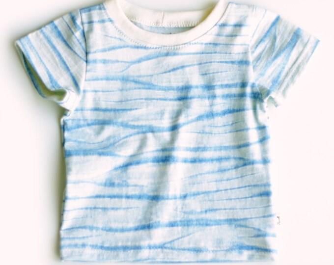 Organic Shibori Baby T-Shirt / Baby Boy Organic T-Shirt / Unique Baby Boy Gift / Shibori T-Shirt for Baby / Organic Baby Shower Gift Idea