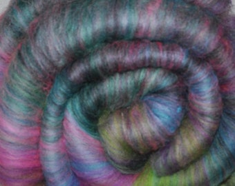 Carded batt for spinning and felting - Drum carded mixed fiber batt - 1.9 ounces - Flower Explosion