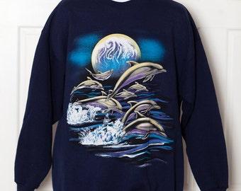 Vintage 90s Dolphin Sweatshirt - XL