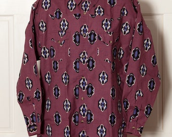 Vintage 80s 90s Men's Button Down Shirt - LEGACY - country western southwest - L