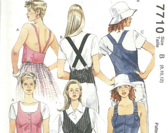 Easy McCall's Pattern 7710 Misses Lined Vest with Straps (8-12) UNCUT