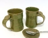 Coffee Mug with Thumb Rest, Handmade Pottery Mug, Lauren Bausch