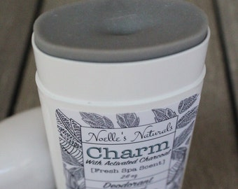 Charcoal Deodorant - Organic Bamboo Charcoal -Natural- Aluminum Free - Non-Toxic - Gender Neutral - Gently Controls Sweat & Odor - Spa Scent