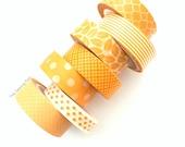 Washi Tape Set: Oranges