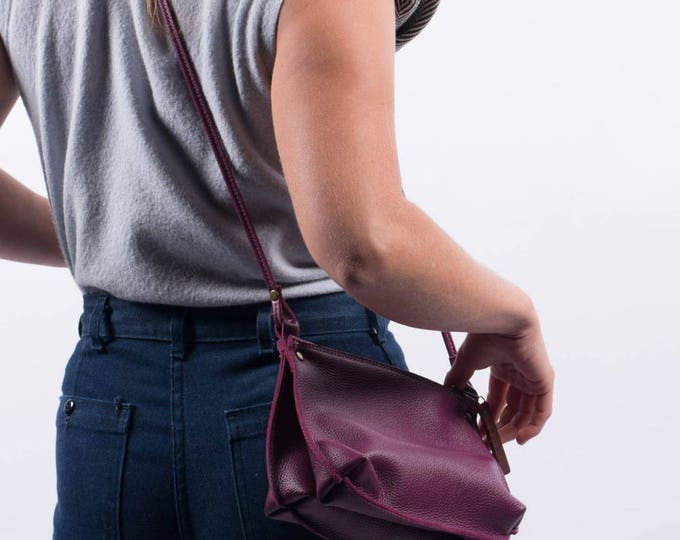 "Handmade crossbody handbag - ""Bea"" leather bag"
