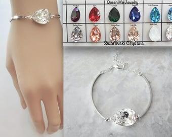 Swarovski crystal bracelet, Crystal wedding bracelet. Crystal bracelet for a bride, Brides crystal bracelet, Bridal bracelet , SOPHIA
