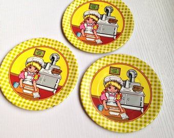 3 Piece Metal Little Baker Toy Dishes