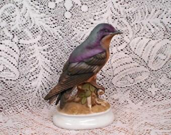 Vintage Lefton Purple Martin Figurine Pristene Condition