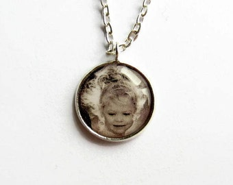 Custom Photo Necklace, Personalised Photo Jewellery, Picture Pendant, Keepsake Jewelry, Memory Necklace, Gift for Mother