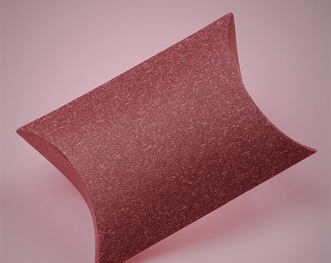 Sandy Burgundy Pillow Box