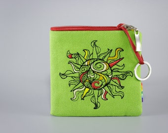 SALE - Embroidered Key Pouch