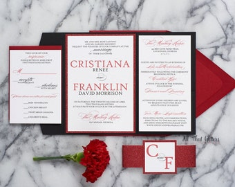 red and black wedding invitations suite valentines day wedding invitations black and red wedding
