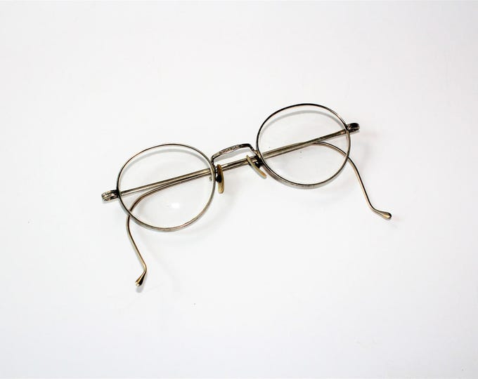 Antique Eyeglasses 12K Gold Filled Art Deco BSO Bay State Optical