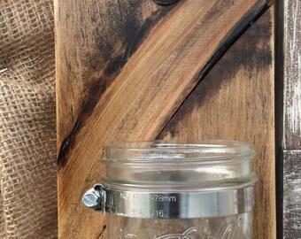 Rustic Mason Jar Beer Cap Catcher