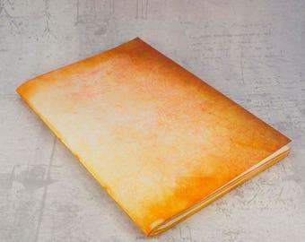 Notebook orange summer sketchbook jotter