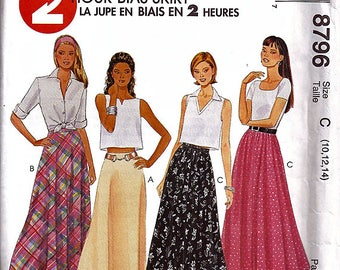 Misses' Skirts / Original McCall's Uncut Sewing Pattern 8796
