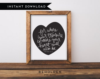Digital Download,  Dorm Wall Art, Scripture Printable, Bible Verse Wall Art, Christian Printable, Dorm Decor, Scripture, Calligraphy Print