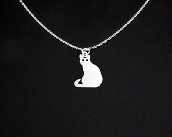 Cat Necklace - Cat Jewelry - Cat Gift