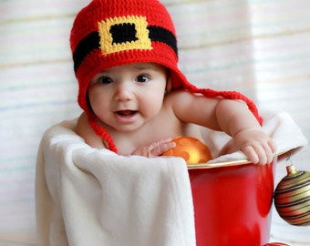 Baby Santa hat, baby Christmas Hat, Christmas Hat, baby Christmas, newborn Christmas hat, Toddler Christmas hat