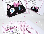 CUTE Cat Invitation For G...