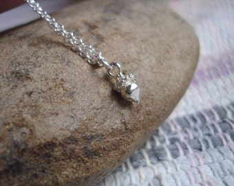 Minimalist Acorn Necklace, Nature Inspired Necklace, Charm Necklace, Acorn to Oak Tree