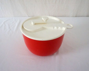 Copco Sam Lebowitz Design Salad Spinner Mod Red and White