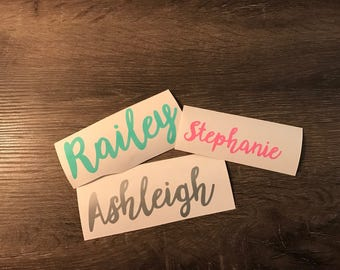 Cursive Name Vinyl Decal, Personalized, Handwritten, Yeti Decal, Laptop Decal, Cell Phone Sticker, car decal