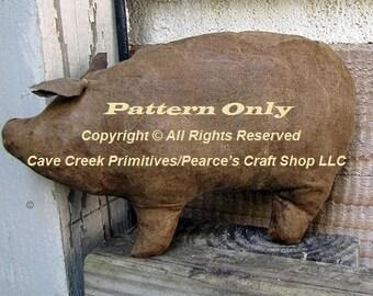 Primitive Pig Pattern, Animal Patterns, Pig Patterns