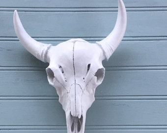 Bull Skull Wall Decor faux cow skull | etsy