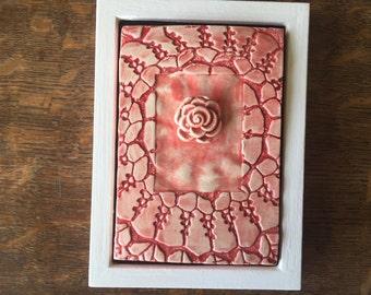 ART DECO 2017 Coral Floral Framed