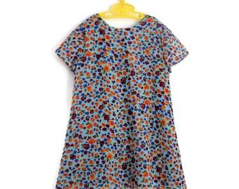 Girls Dress, Girls Vintage Dress, Girls Summer Dress, Little Girls Dress, Vintage Girls Dress