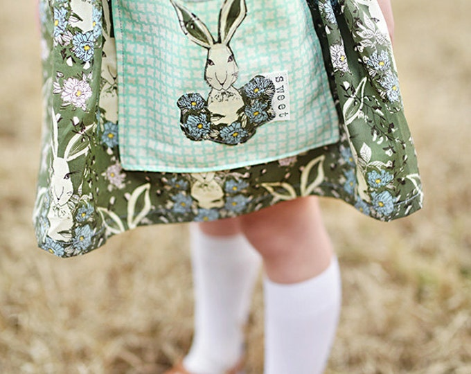 "Swanky Shank ""Sweet Bunny Skirt"" With detailed Pocket"