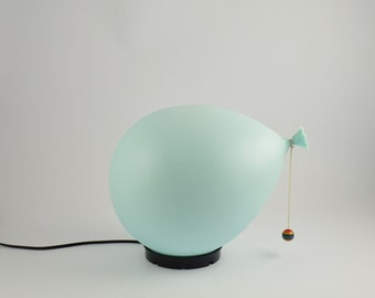 Light blue balloon lamp
