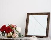 Rustic Wall Mirror - Small Wall Mirror - 14 x 14 Mirror - Rustic Mirror - Reclaimed Wood Mirror - Decorative Mirror - Farmhouse