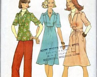 "1970s Women's Dress, Top, Tunic & Pants Pattern- Size 12, Bust 34"" - Simplicity 7049"