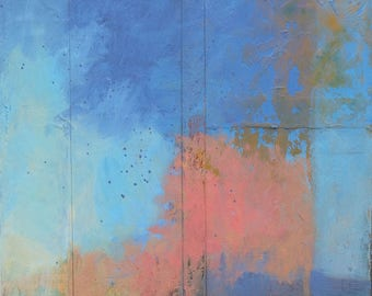 Blush of Spring ~ Original Contemporary Abstract Western Sky Springtime Landscape Painting